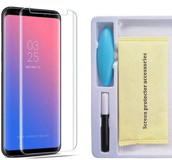 Samsung S9 Plus Tempered Glass UV Glue Nano Optics 3D Curved 9H Screen Protector